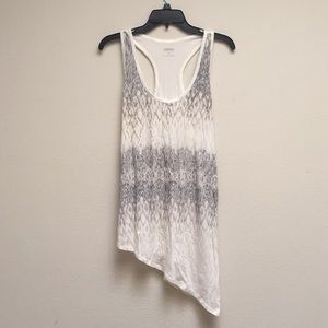 NWOT racetrack tribal beaded tank top Express L